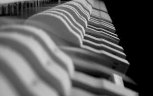 piano keys close up